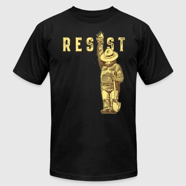 resist smokey - Men's T-Shirt by American Apparel