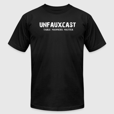 Unfauxcast Podcast Official Logo - Men's T-Shirt by American Apparel
