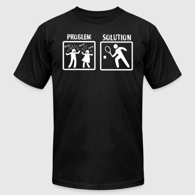 Problem Solution Tennis - Men's T-Shirt by American Apparel