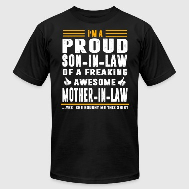 I m a Proud Son In Law Freaking Awesome Mother - Men's Fine Jersey T-Shirt