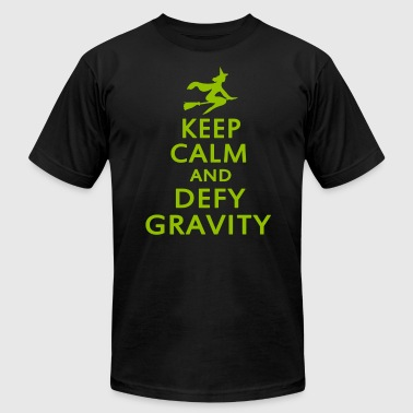 Wicked. Keep Calm And Defy Gravity. - Men's Fine Jersey T-Shirt