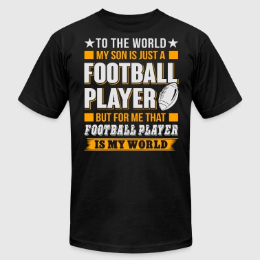My Son Is Just A Football Player T Shirt - Men's Fine Jersey T-Shirt