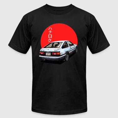 AE86 Initial d Trueno Japan Movie - Men's T-Shirt by American Apparel