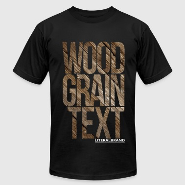 Wood Grain Text - Men's Fine Jersey T-Shirt