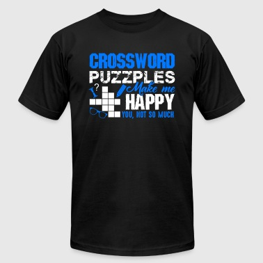 Crossword Puzzles Make Me Happy Shirt - Men's Fine Jersey T-Shirt