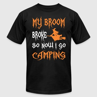 My Broom Broke So Now I Go Camping Halloween - Men's T-Shirt by American Apparel