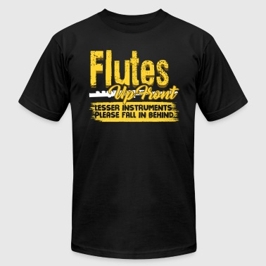 FLUTES UP FRONT BLACK SHIRT - Men's T-Shirt by American Apparel