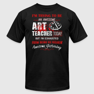 Awesome Art Teacher Shirt - Men's T-Shirt by American Apparel
