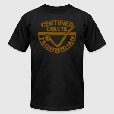 CERTIFIED ZIP TIE TECHNICIAN - Men's Fine Jersey T-Shirt