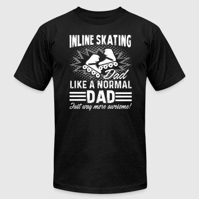 Inline Skate Tee Shirt - Men's T-Shirt by American Apparel