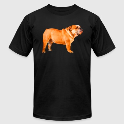 English Bulldog Shirt - Men's T-Shirt by American Apparel