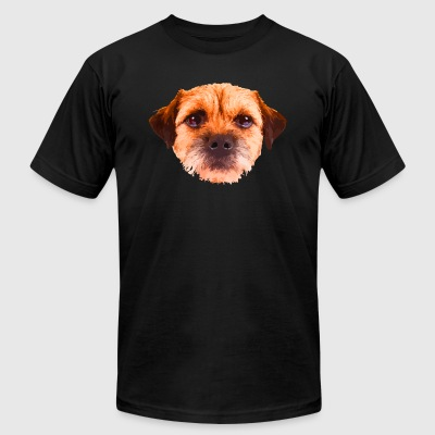 Border Terrier Tee Shirt - Men's T-Shirt by American Apparel