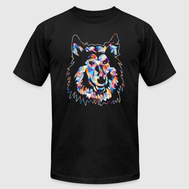 Rough Collie Tee Shirt - Men's T-Shirt by American Apparel