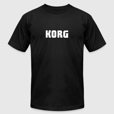 Korg white color - Men's T-Shirt by American Apparel