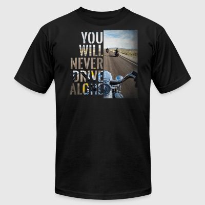 Never Alone vol.1 - Men's T-Shirt by American Apparel