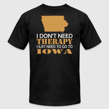 I Dont Need Therapy I Just Want To Go Iowa - Men's Fine Jersey T-Shirt