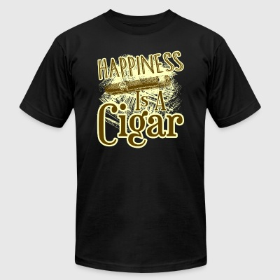 CIGAR HAPPINESS SHIRT - Men's T-Shirt by American Apparel