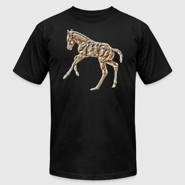 Horse foal playing - Men's Fine Jersey T-Shirt