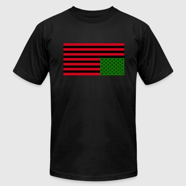 Black American Distress: Men's Slim Fit T-Shirt - Men's Fine Jersey T-Shirt