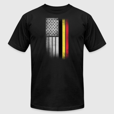 Belgian American Flag - Men's T-Shirt by American Apparel
