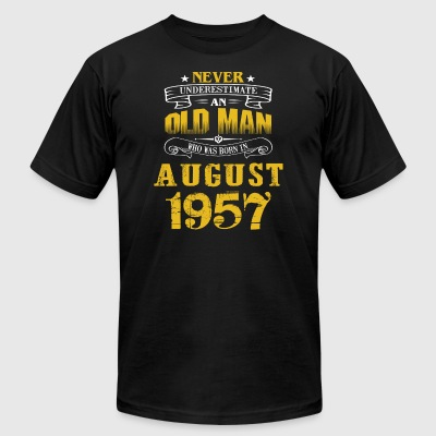 An Old Man Who Was Born In August 1957 - Men's T-Shirt by American Apparel