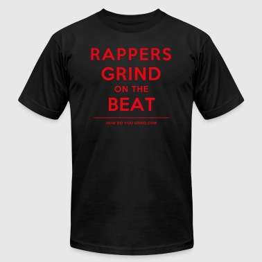 Rappers Grind On The Beat - Red - Men's Fine Jersey T-Shirt