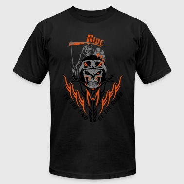 Biker Reaper Ride To The End Of The Road - Men's Fine Jersey T-Shirt