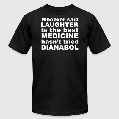Laughter Is The Best - Men's T-Shirt by American Apparel