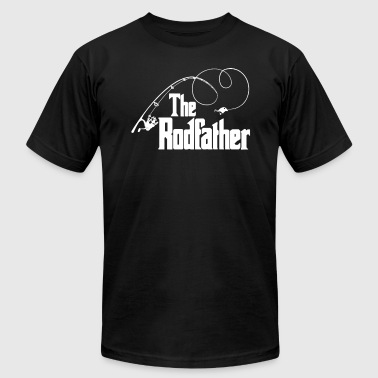 The Rodfather Top Rod Fishing Fish The Godfather - Men's T-Shirt by American Apparel