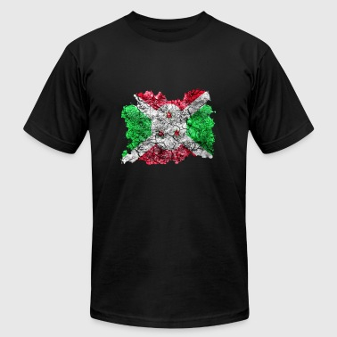 Burundi Vintage Flag - Men's T-Shirt by American Apparel