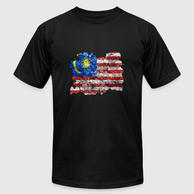 Malaysia Vintage Flag - Men's Fine Jersey T-Shirt