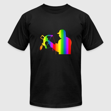 Colorful Crossbow Rainbow - Men's Fine Jersey T-Shirt