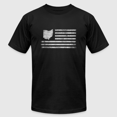 Ohio State United States Flag Vintage USA - Men's T-Shirt by American Apparel