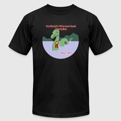 Loch Ness Monster: Hide and Seek Champion - Men's T-Shirt by American Apparel