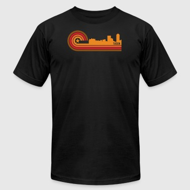Retro Style Tucson Arizona Skyline - Men's T-Shirt by American Apparel