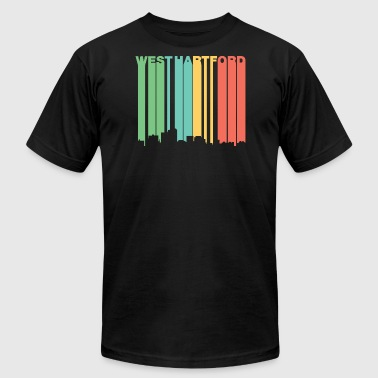 Retro 1970's Style West Hartford CT Skyline - Men's Fine Jersey T-Shirt