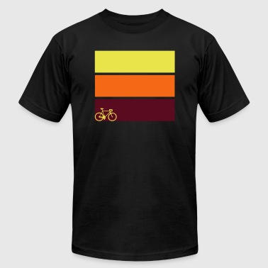 tricolor with bicycle - Men's Fine Jersey T-Shirt