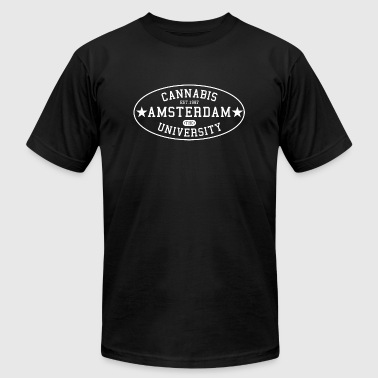 Cannabis University of Amsterdam - Men's T-Shirt by American Apparel
