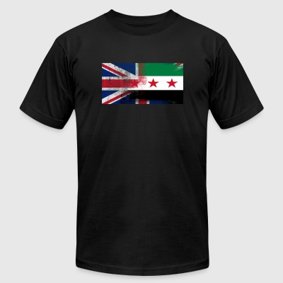 British Syrian Half Syria Half UK Flag - Men's T-Shirt by American Apparel