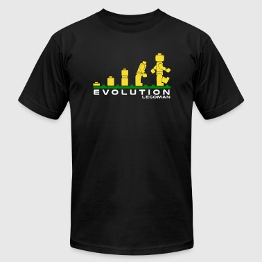 Evolution of Lego Man - Men's T-Shirt by American Apparel