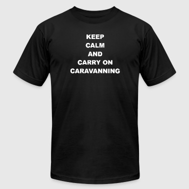 Keep Calm And Carry On Caravanning - Men's Fine Jersey T-Shirt