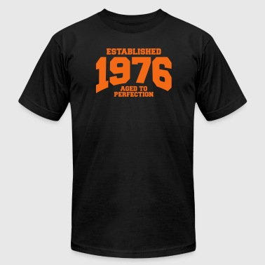aged to perfection established 1976 - Men's Fine Jersey T-Shirt