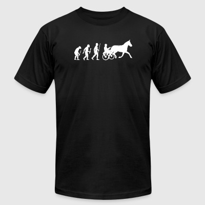 Harness Racing - Evolution of Man and Harness Ra - Men's T-Shirt by American Apparel