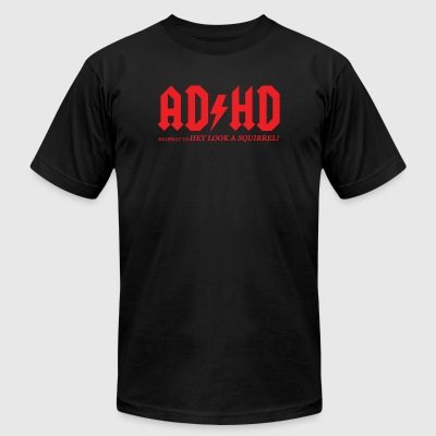 Adhd - adhd highway to hey look a square - Men's T-Shirt by American Apparel