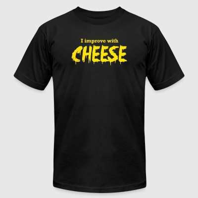 Cheese - I Improve with Cheese - Men's T-Shirt by American Apparel