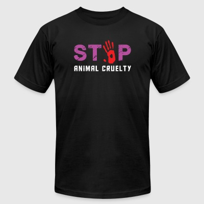 Animal cruelty - stop animal cruelty - Men's T-Shirt by American Apparel