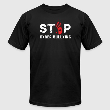 CYBER BULLYING - STOP CYBER BULLYING - Men's Fine Jersey T-Shirt