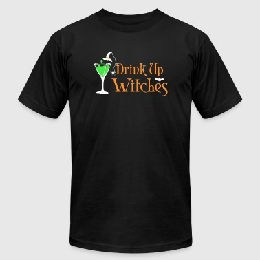 Witch - Halloween Drink Up Witches - Men's T-Shirt by American Apparel