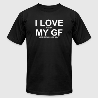 Golf - i love it when my gf lets me play disc go - Men's Fine Jersey T-Shirt