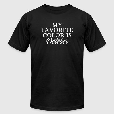 - My Favorite Color is October - Men's T-Shirt by American Apparel